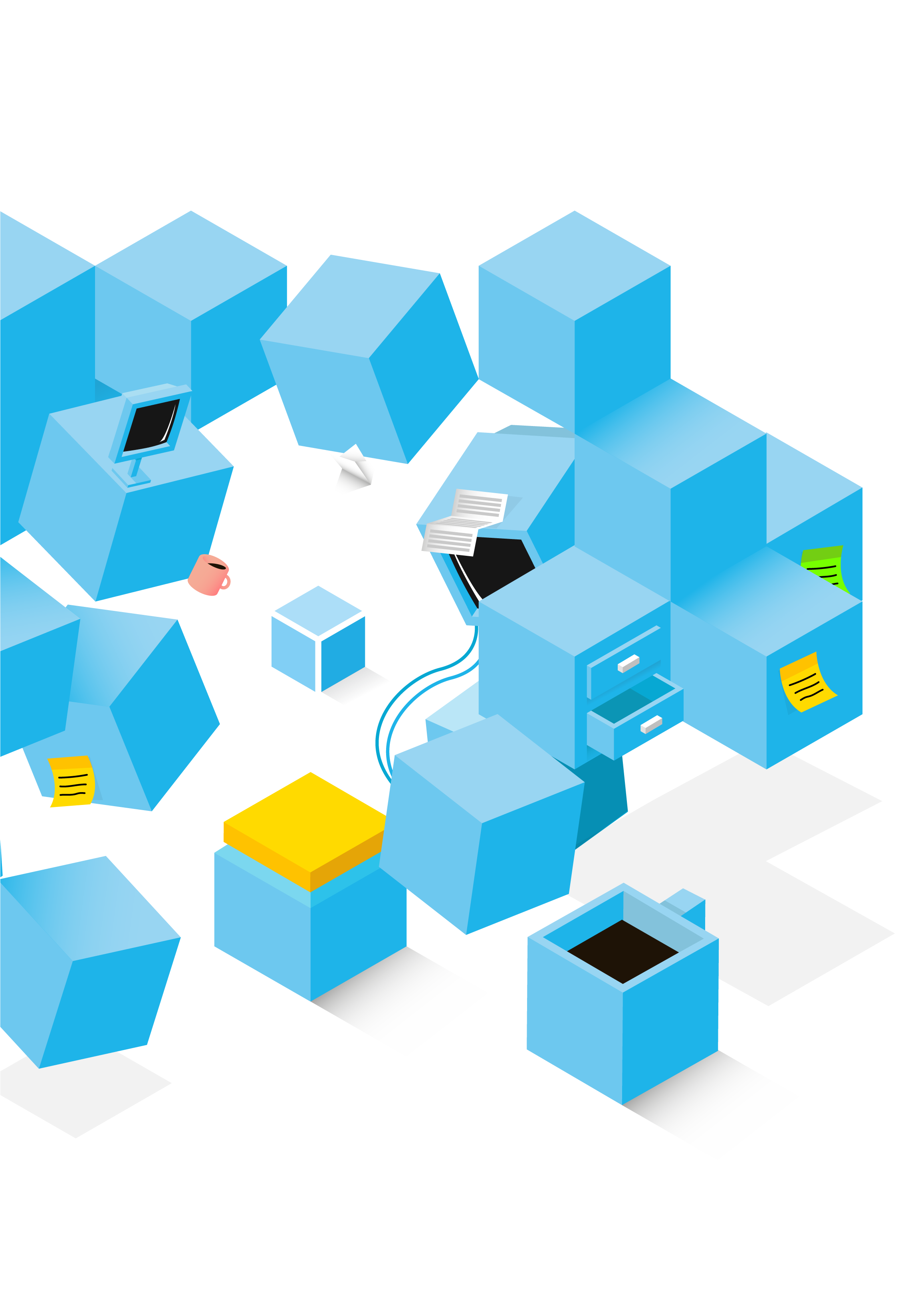 services image cube illustration
